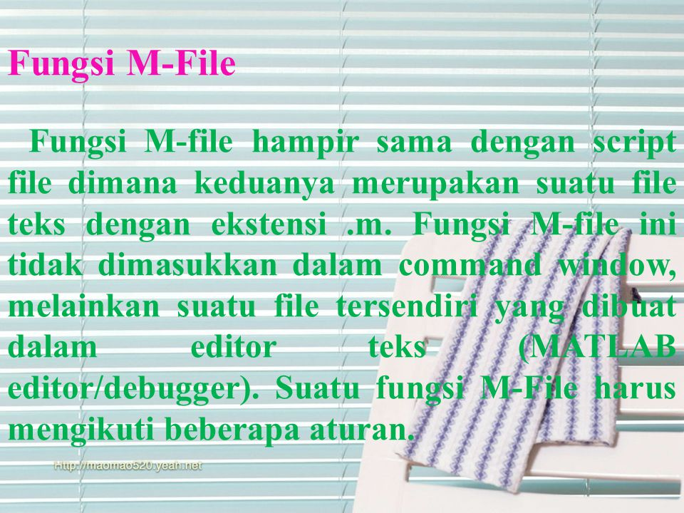 Fungsi M-File