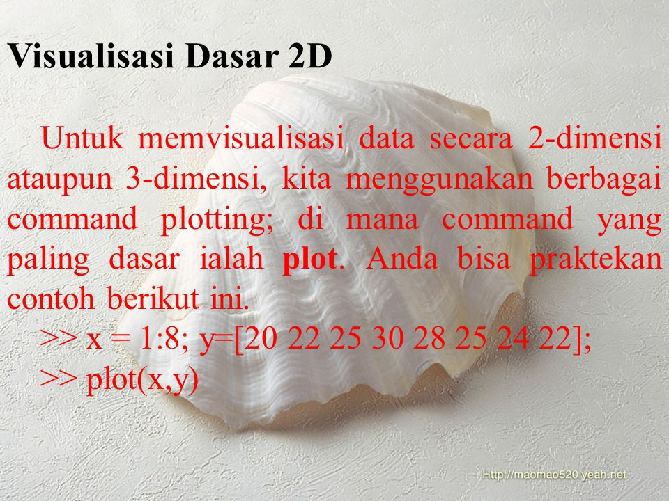 Visualisasi Dasar 2D