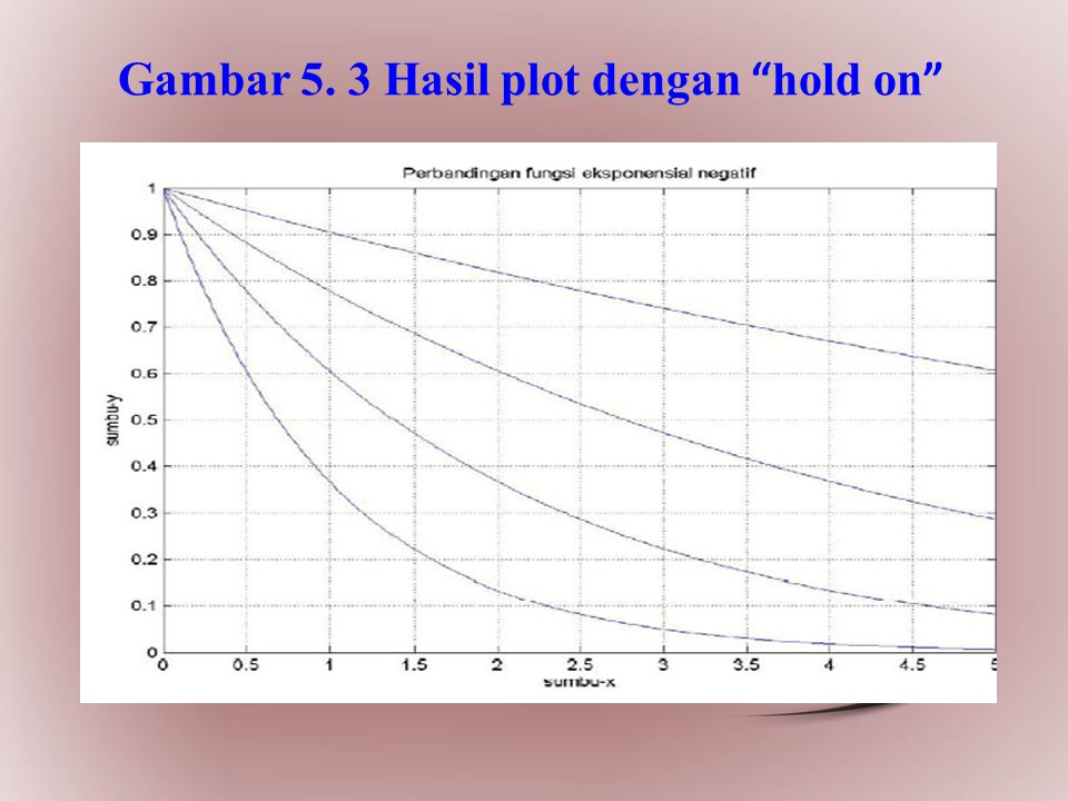 Gambar 5. 3 Hasil plot dengan hold on