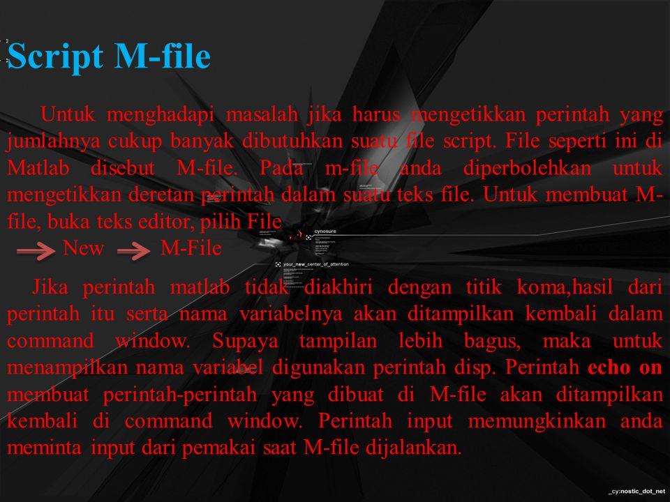 Script M-file