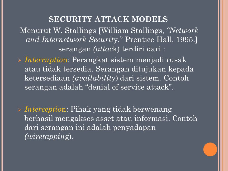 Security Attack Models