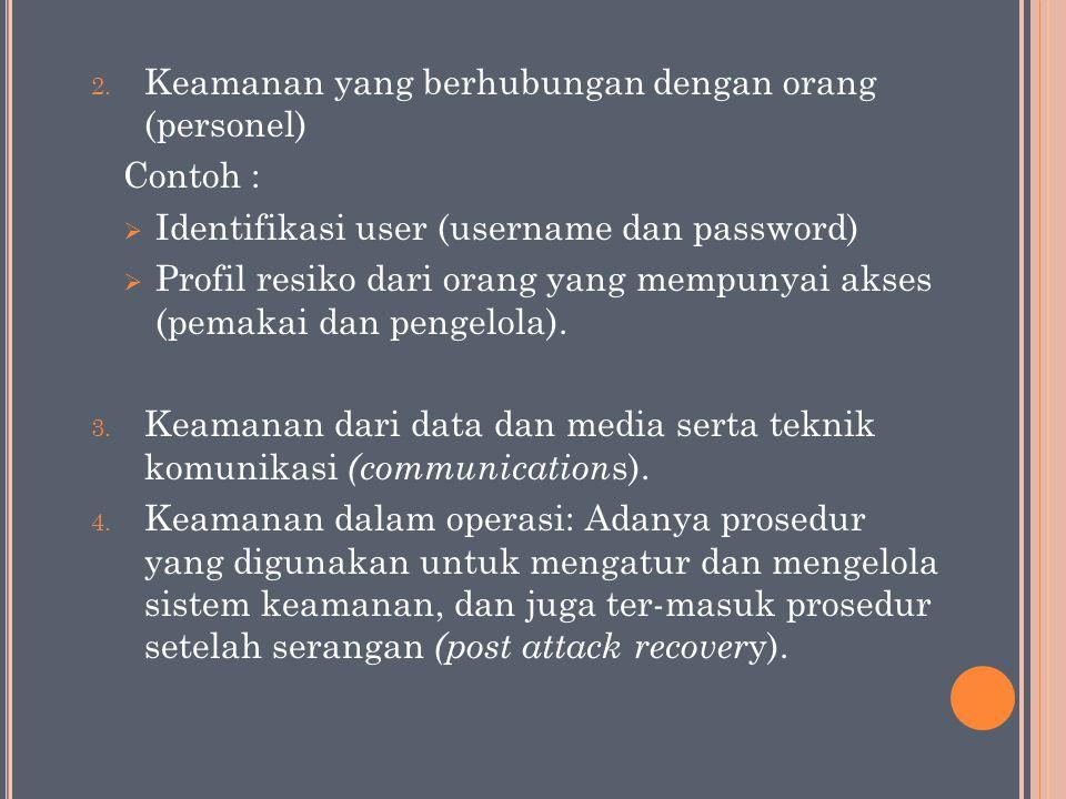 Keamanan yang berhubungan dengan orang (personel)