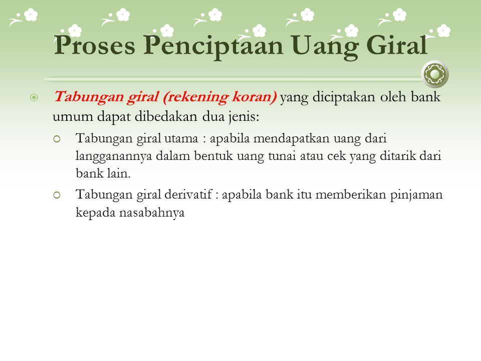 Proses Penciptaan Uang Giral