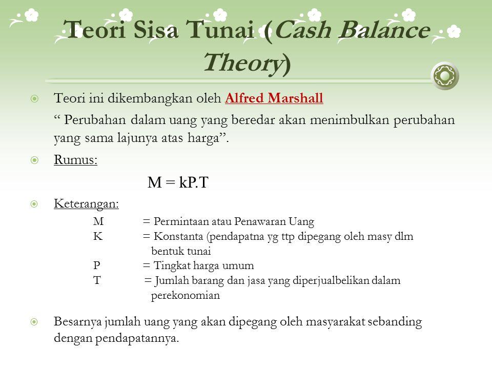 Teori Sisa Tunai (Cash Balance Theory)