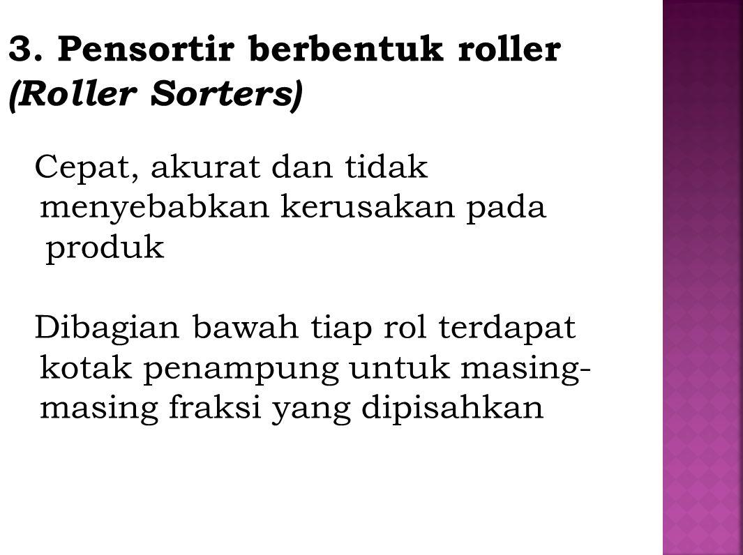 3. Pensortir berbentuk roller (Roller Sorters)