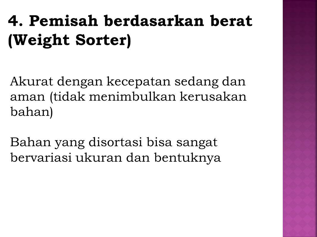 4. Pemisah berdasarkan berat (Weight Sorter)