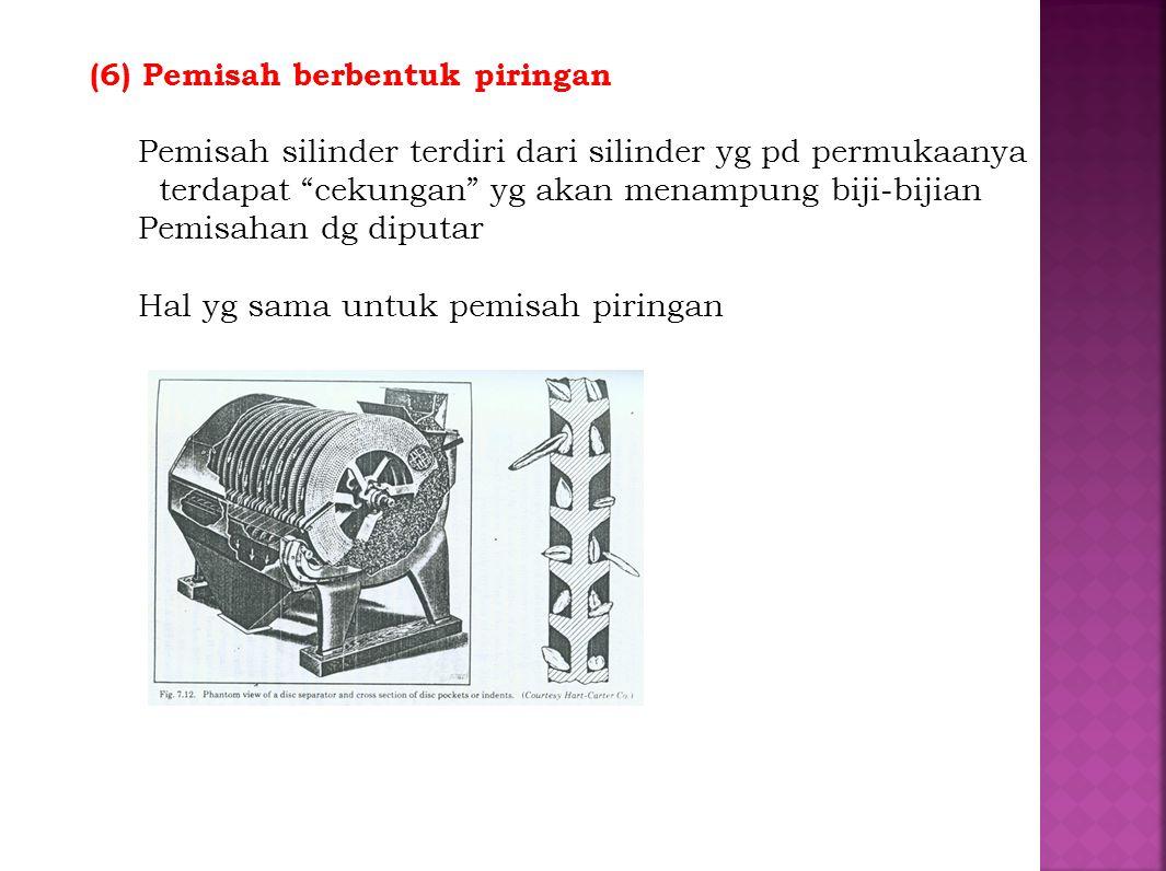 (6) Pemisah berbentuk piringan