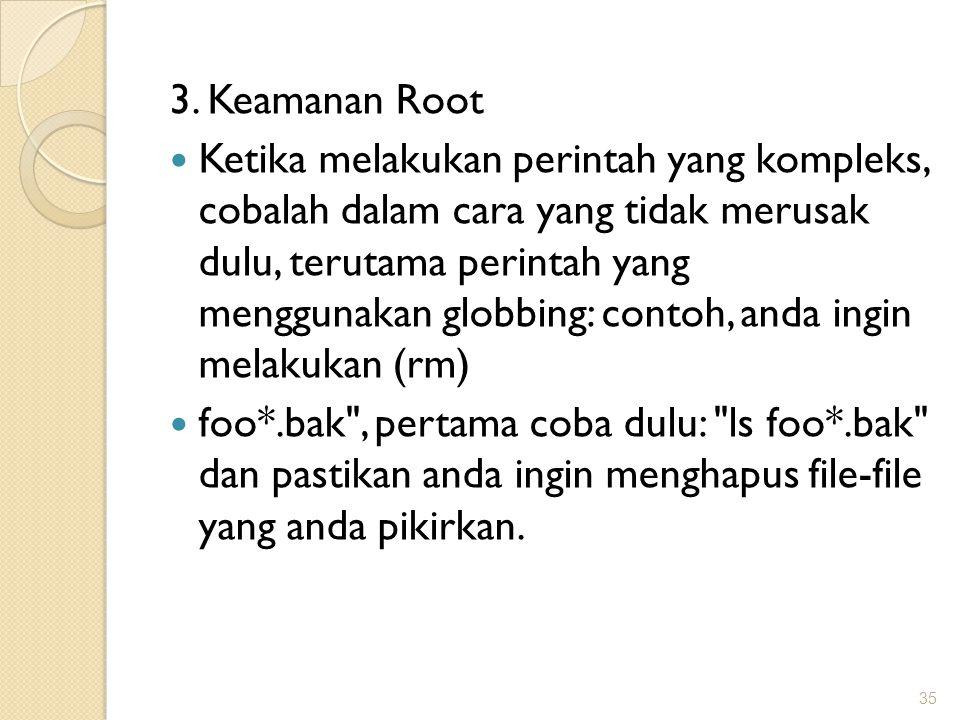 3. Keamanan Root