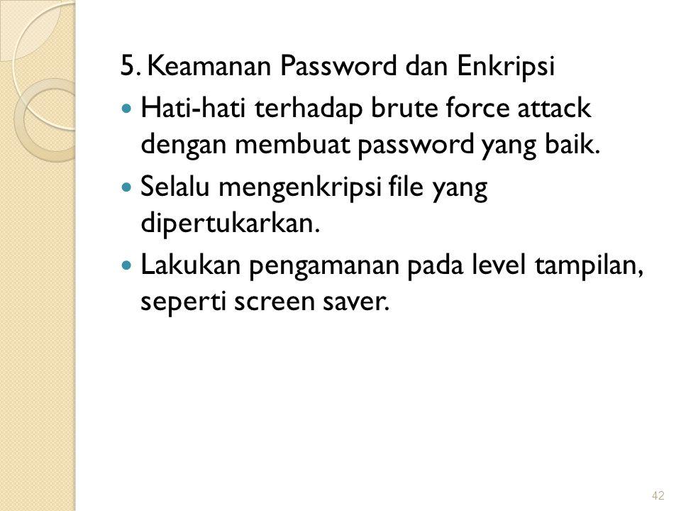 5. Keamanan Password dan Enkripsi
