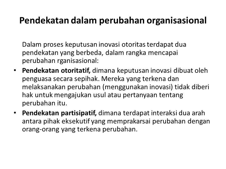Pendekatan dalam perubahan organisasional