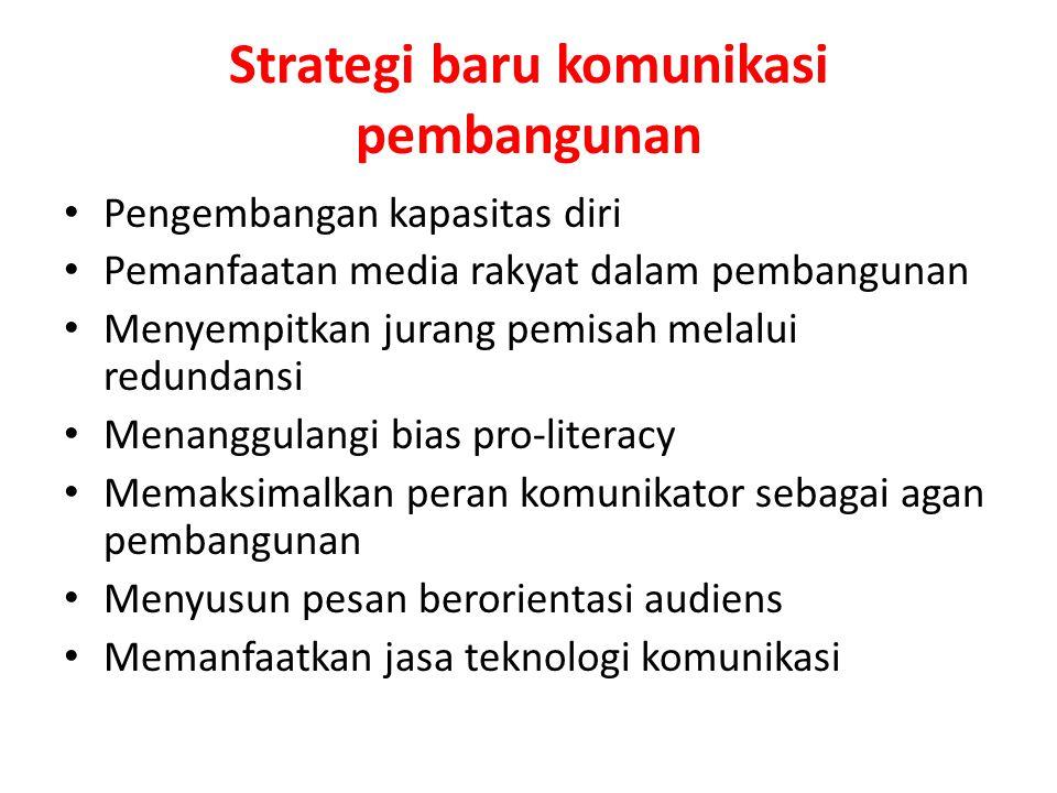 Strategi baru komunikasi pembangunan