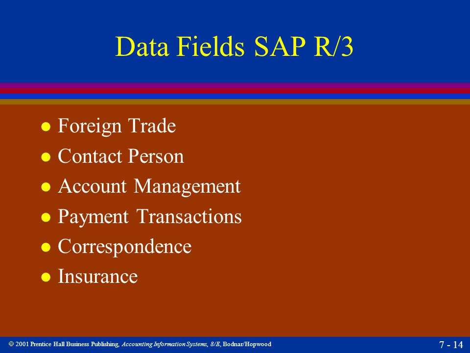 Data Fields SAP R/3 Foreign Trade Contact Person Account Management