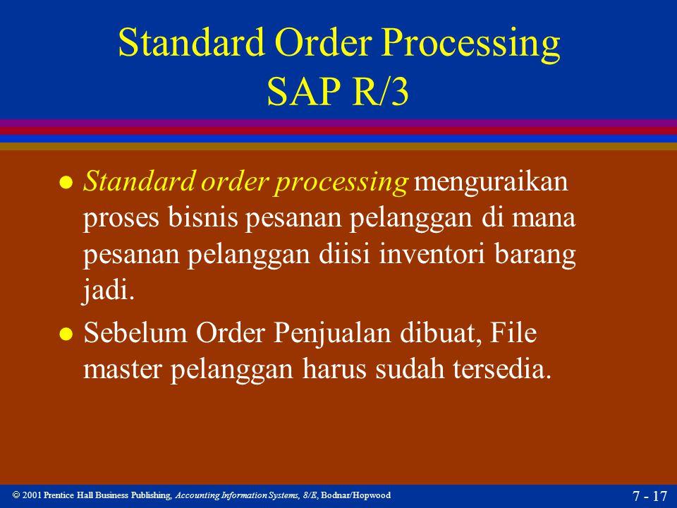 Standard Order Processing SAP R/3