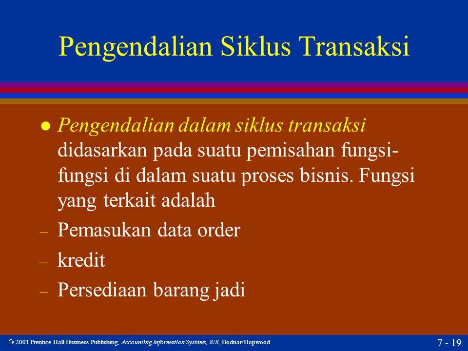 Pengendalian Siklus Transaksi