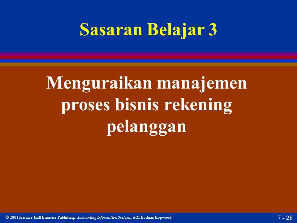 Menguraikan manajemen proses bisnis rekening pelanggan