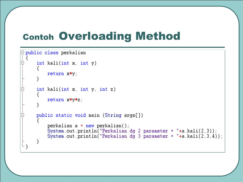Contoh Overloading Method