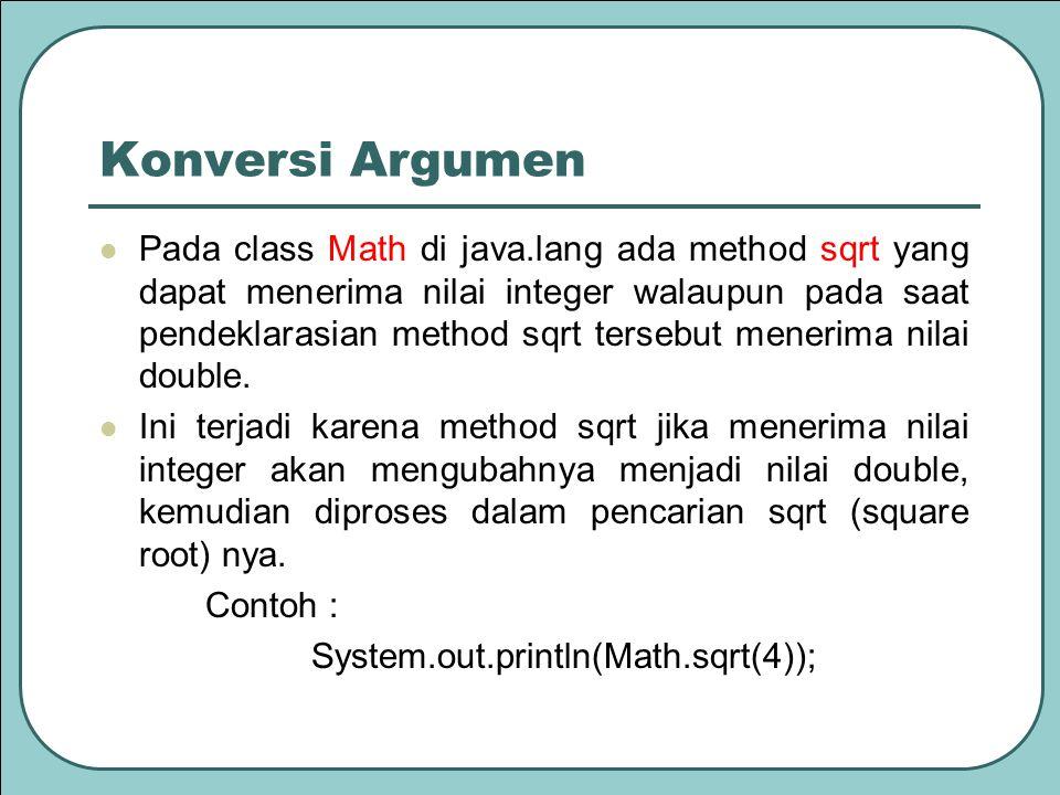 Konversi Argumen