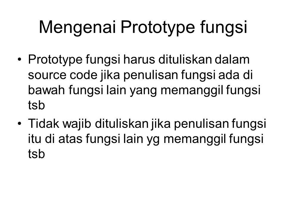 Mengenai Prototype fungsi