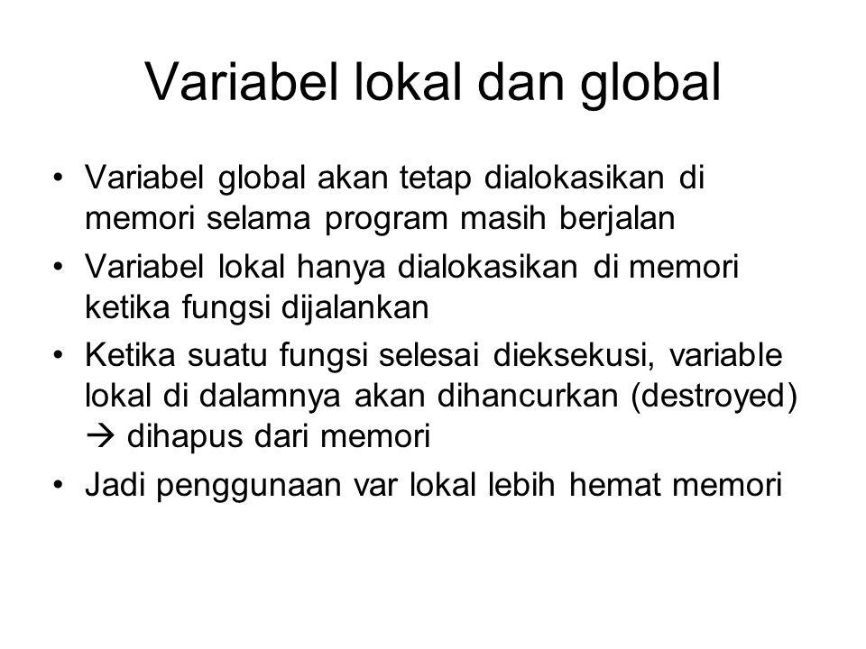 Variabel lokal dan global