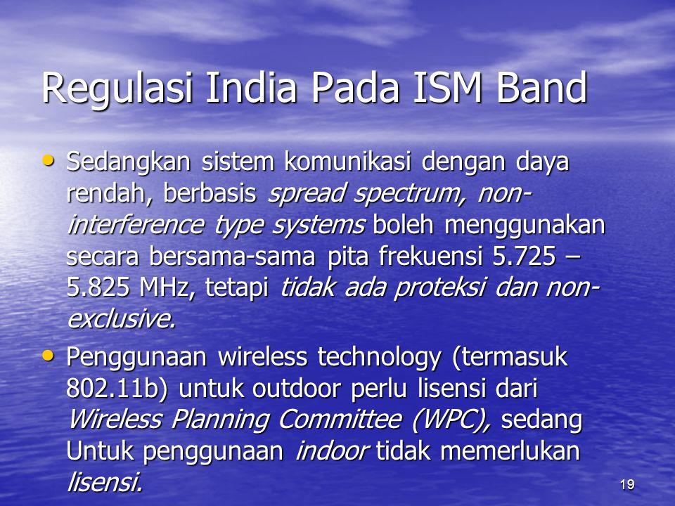 Regulasi India Pada ISM Band