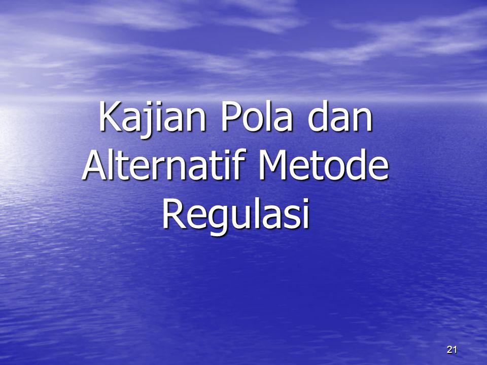 Kajian Pola dan Alternatif Metode Regulasi