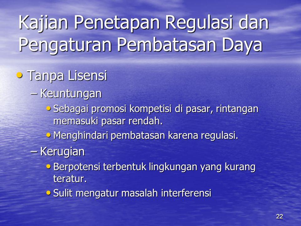 Kajian Penetapan Regulasi dan Pengaturan Pembatasan Daya