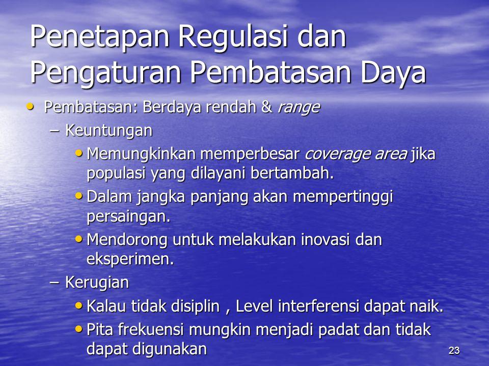 Penetapan Regulasi dan Pengaturan Pembatasan Daya