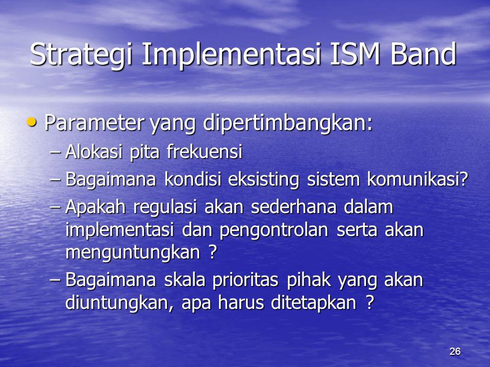 Strategi Implementasi ISM Band