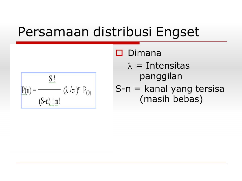 Persamaan distribusi Engset