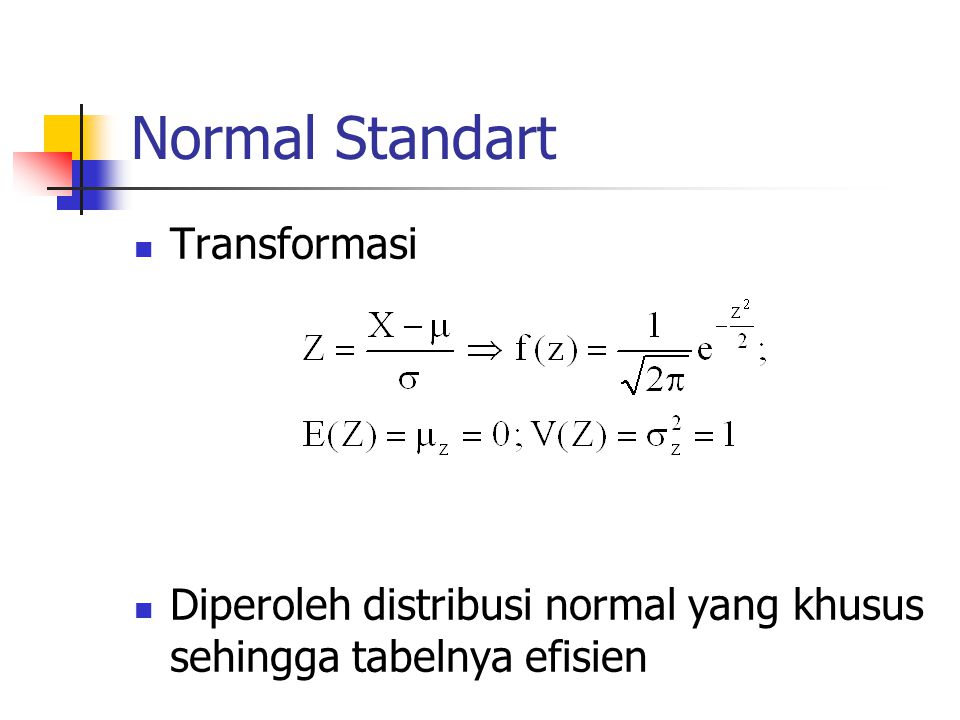 Normal Standart Transformasi