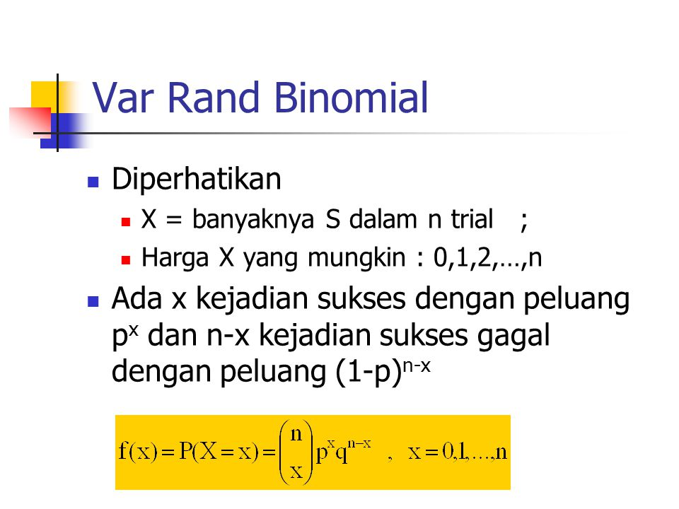 Var Rand Binomial Diperhatikan