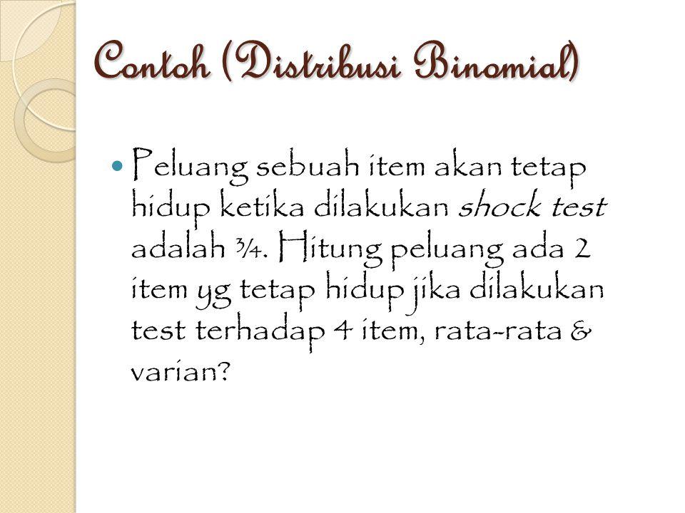 Contoh (Distribusi Binomial)