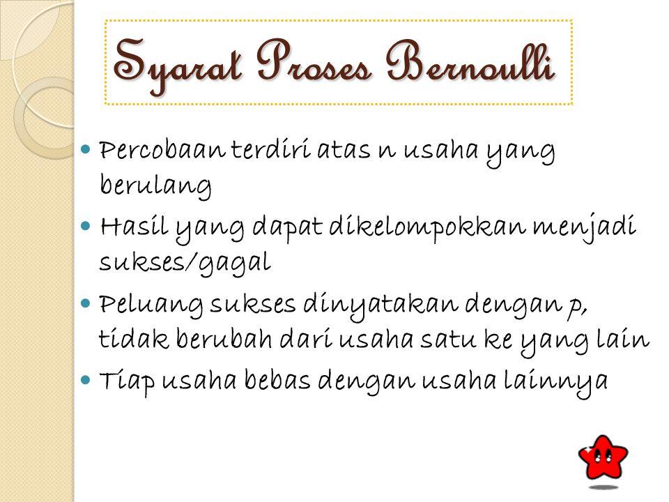 Syarat Proses Bernoulli