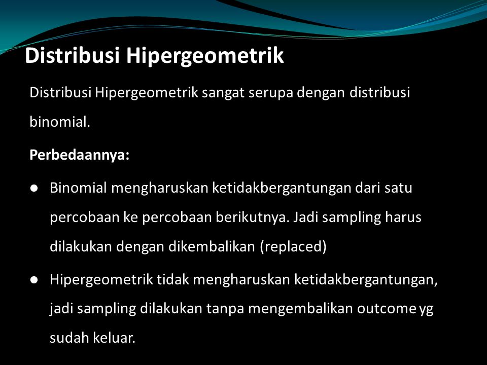 Distribusi Hipergeometrik