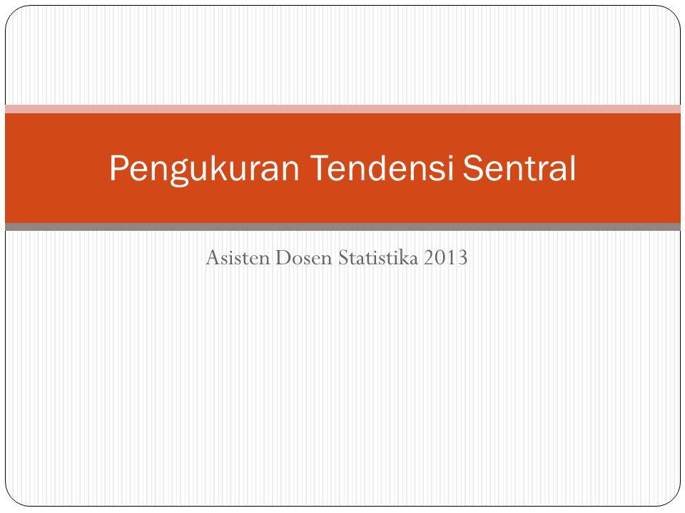 Pengukuran Tendensi Sentral