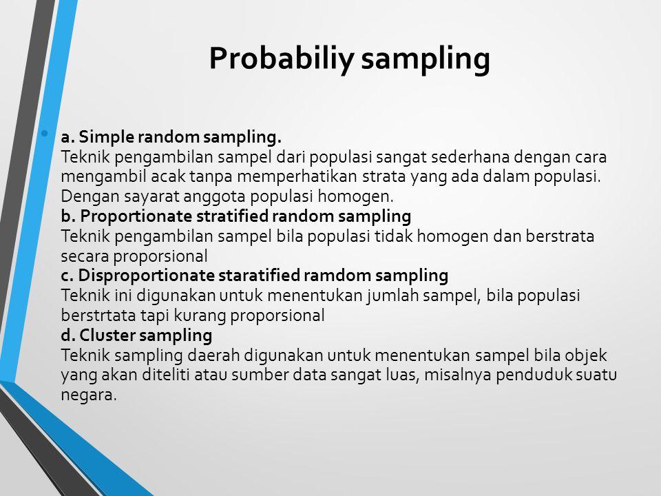 Probabiliy sampling