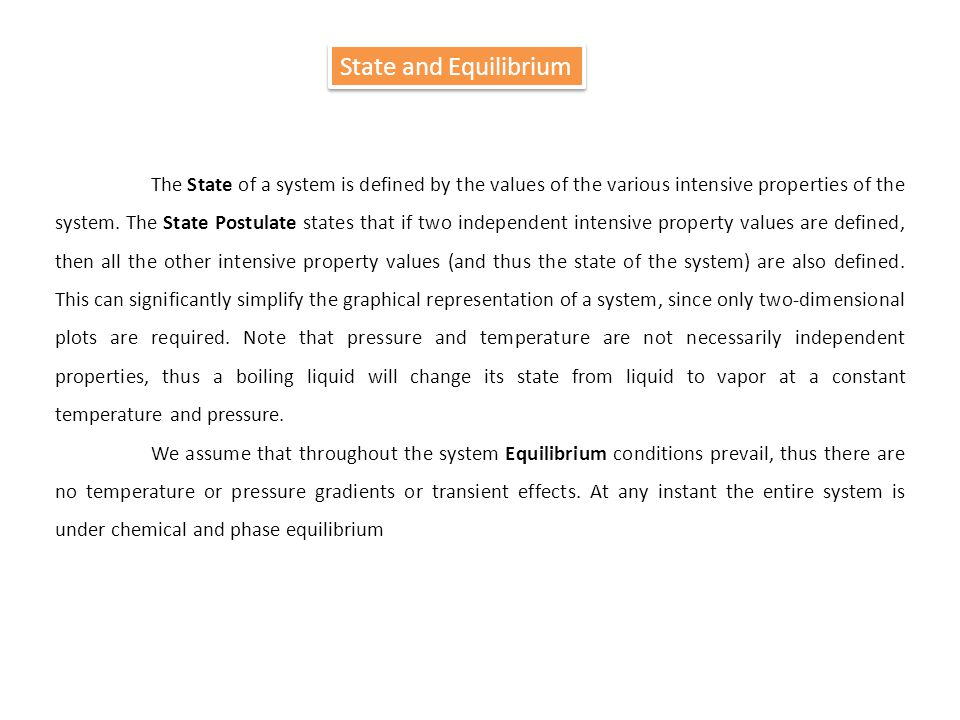 State and Equilibrium