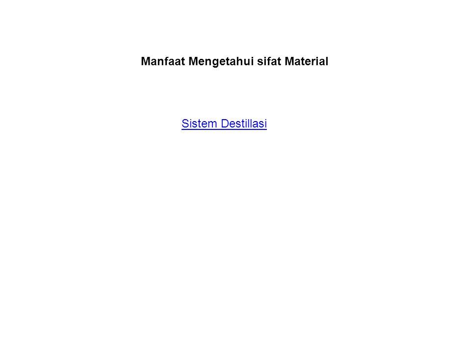 Manfaat Mengetahui sifat Material