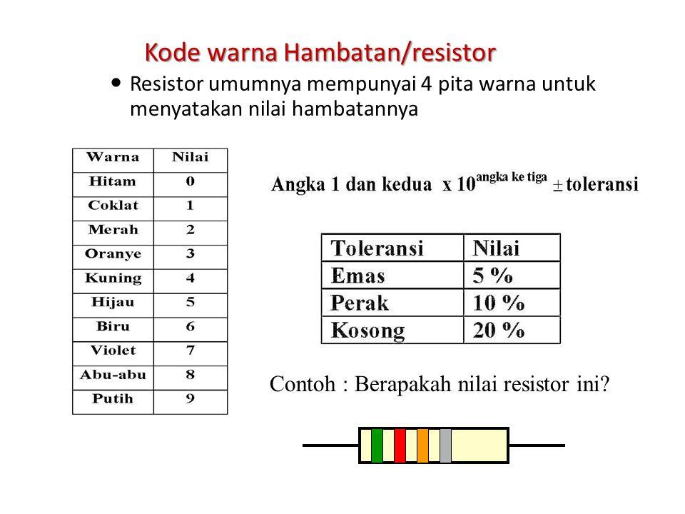 Kode warna Hambatan/resistor