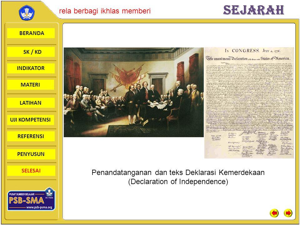 Penandatanganan dan teks Deklarasi Kemerdekaan