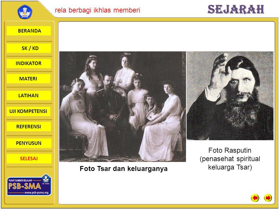 Foto Tsar dan keluarganya