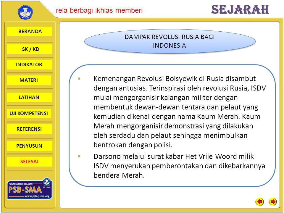DAMPAK REVOLUSI RUSIA BAGI INDONESIA