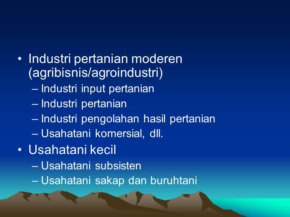 Industri pertanian moderen (agribisnis/agroindustri)