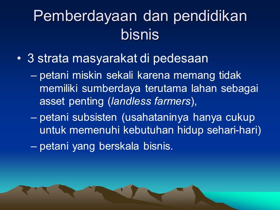 Pemberdayaan dan pendidikan bisnis
