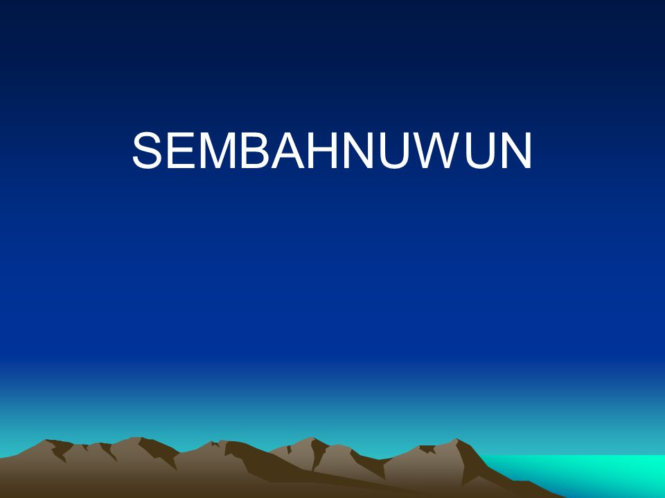SEMBAHNUWUN