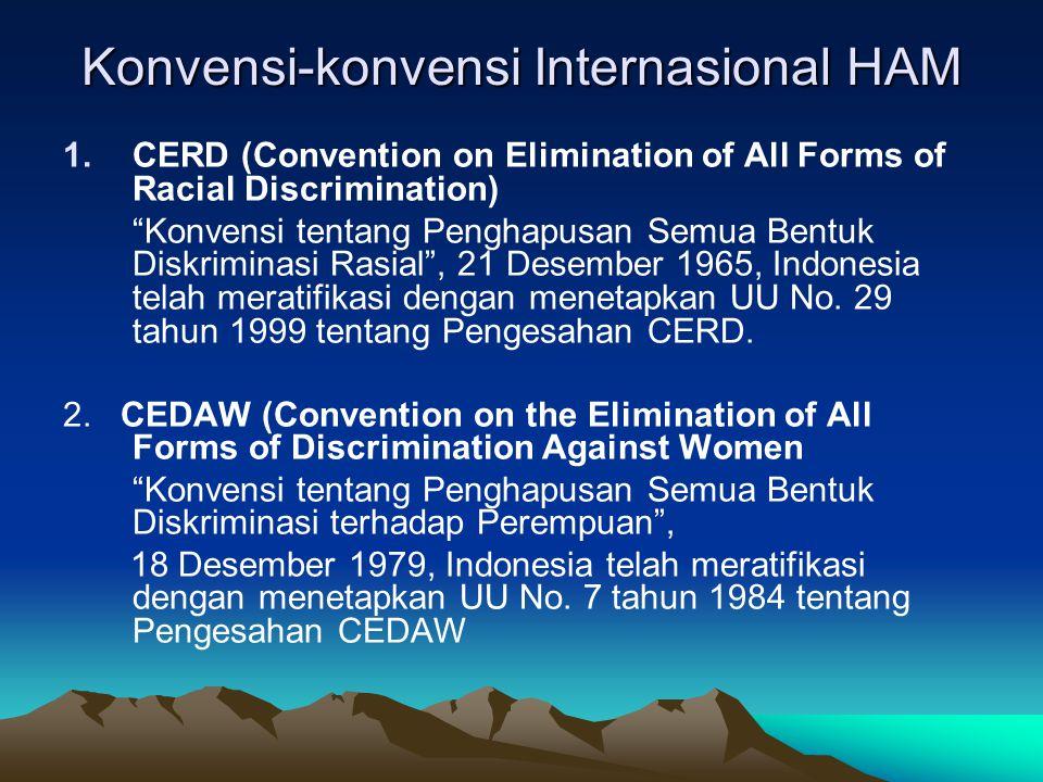 Konvensi-konvensi Internasional HAM