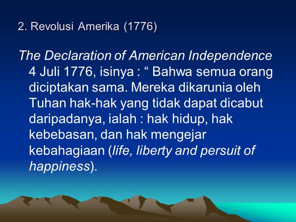 2. Revolusi Amerika (1776)