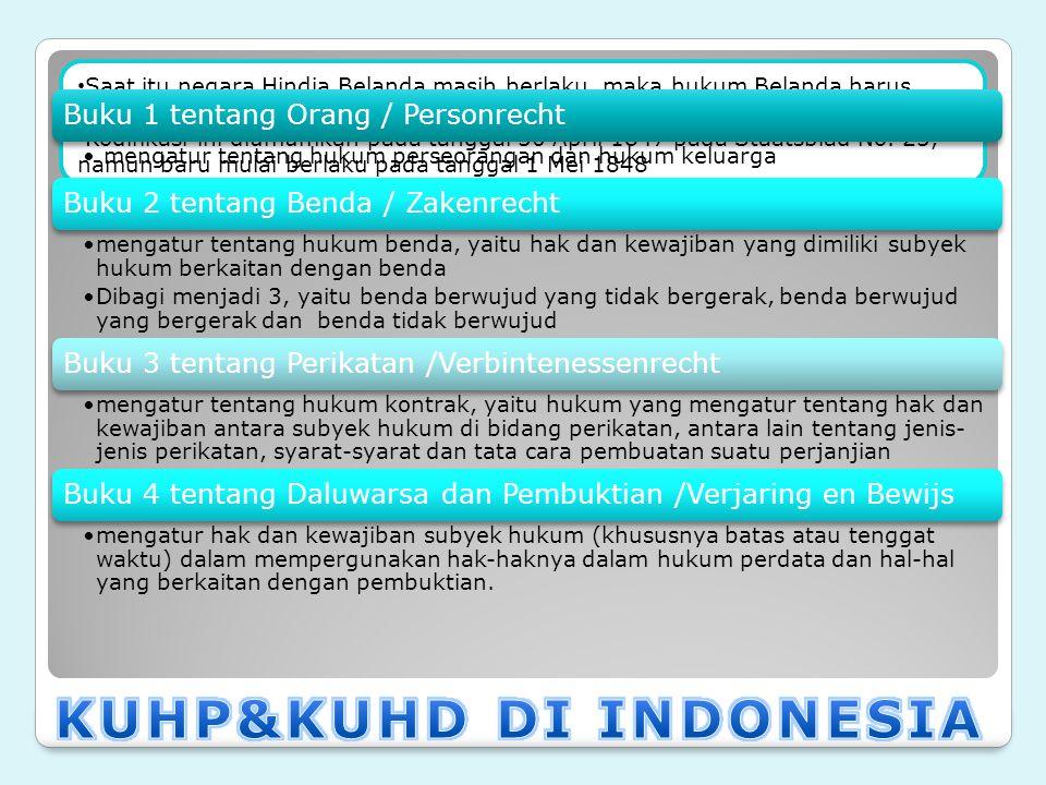KUHP&KUHD DI INDONESIA