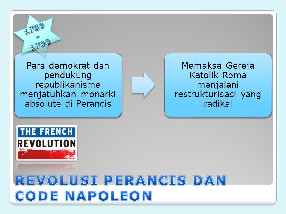 REVOLUSI PERANCIS DAN CODE NAPOLEON