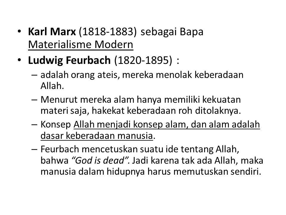Karl Marx (1818-1883) sebagai Bapa Materialisme Modern